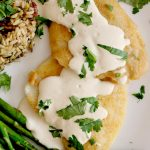 fish lemon garlic tahini
