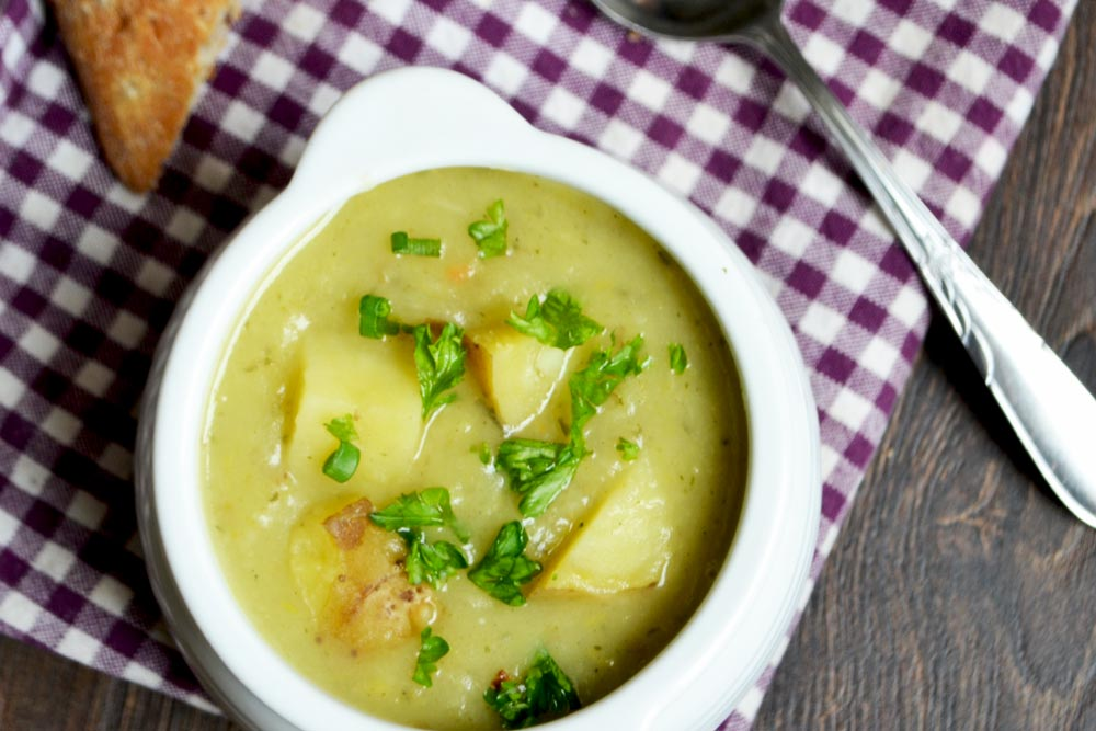 Simply The Best Vegan Potato Leek Soup