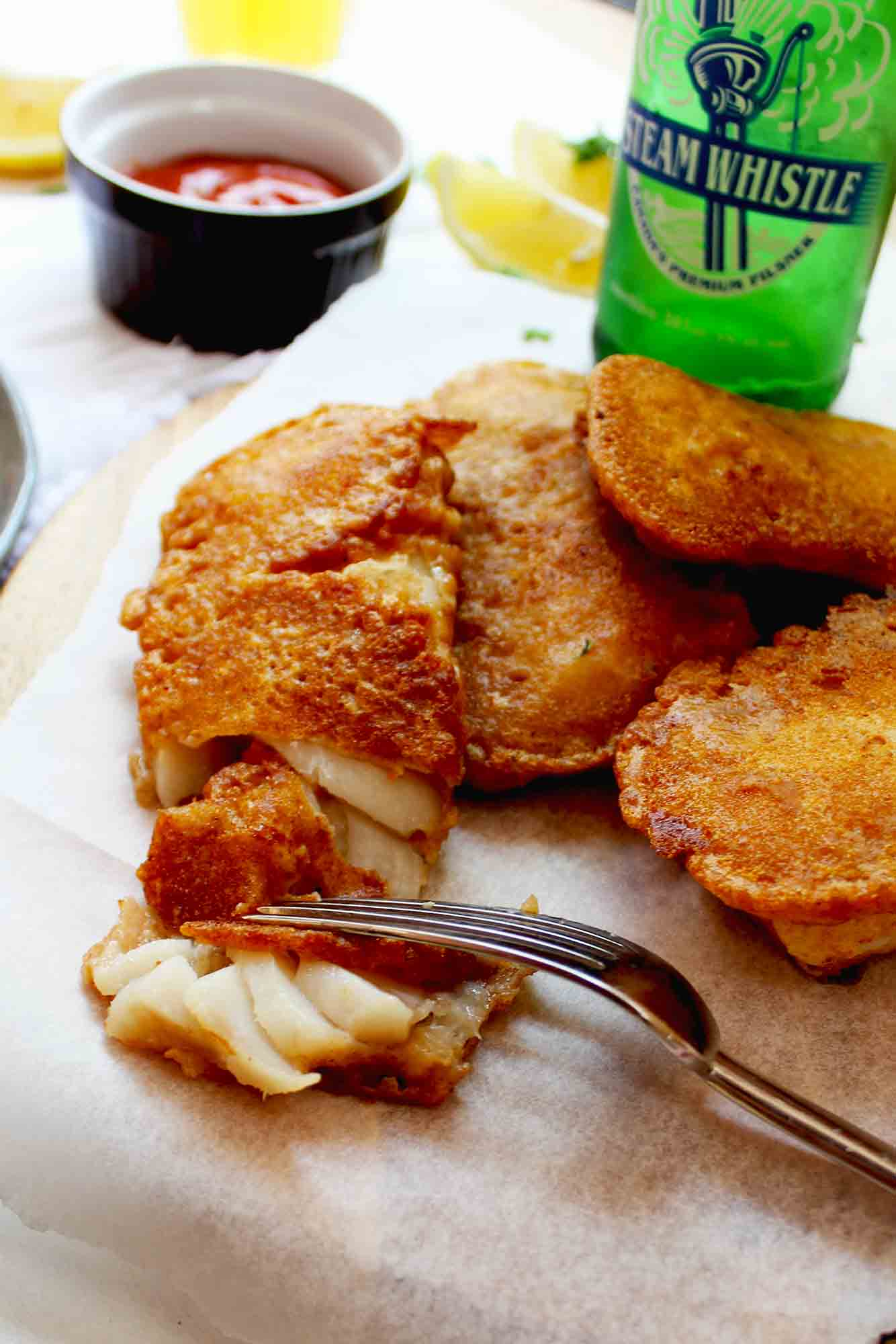 Steam Whistle Battered Fish & Chips with Dijon Caper Tartar Sauce5 min read