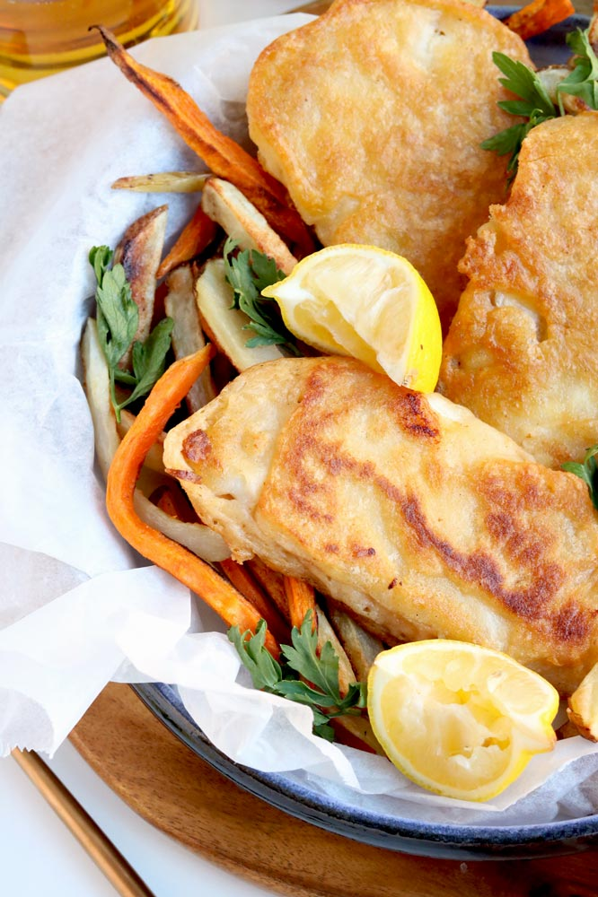 lighten up your fish chips with this healthy fish batter recipe. Black Bedroom Furniture Sets. Home Design Ideas