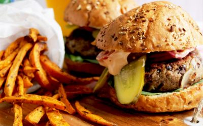 The Best BBQ Vegan Black Bean Burger Recipe With Caramelized Onions