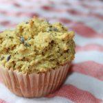 lemon lavender poppyseed muffin glutenfree