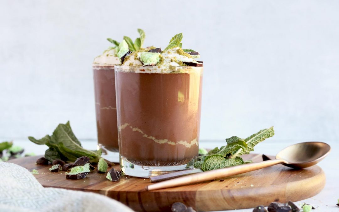 vegan mint chocolate mousse