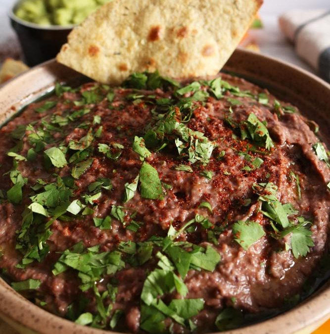 Healthy AF Vegan Black Bean Dip