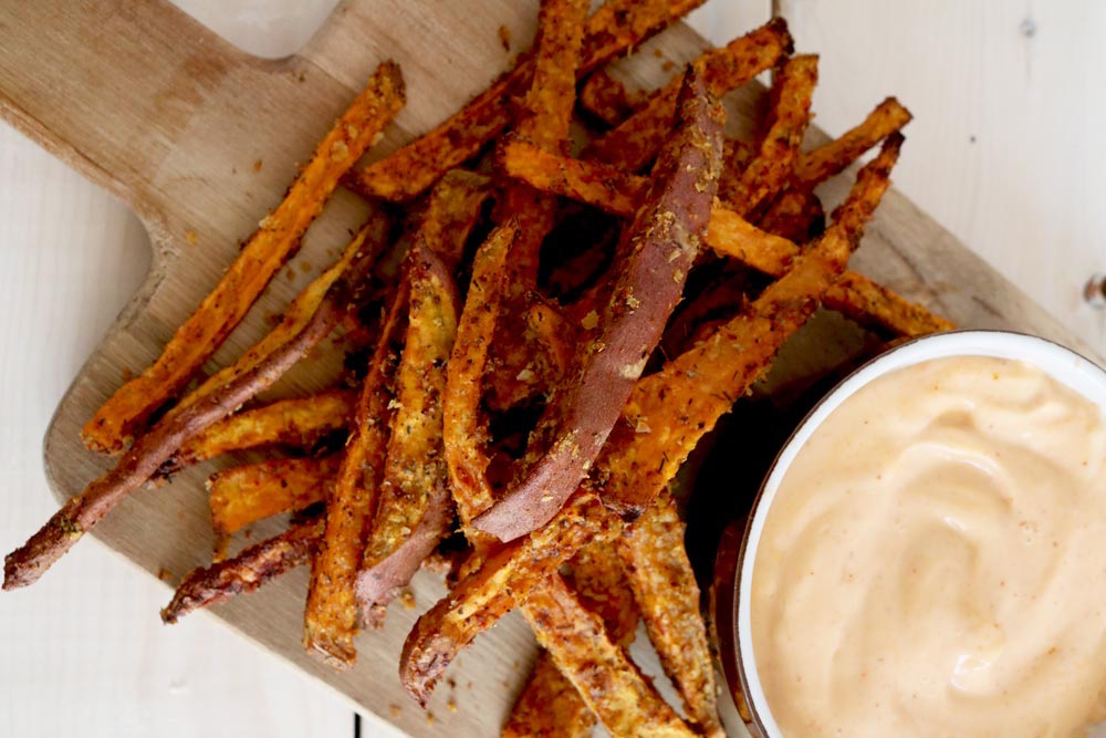 The Best Baked Sweet Potato Fry Hack Ever