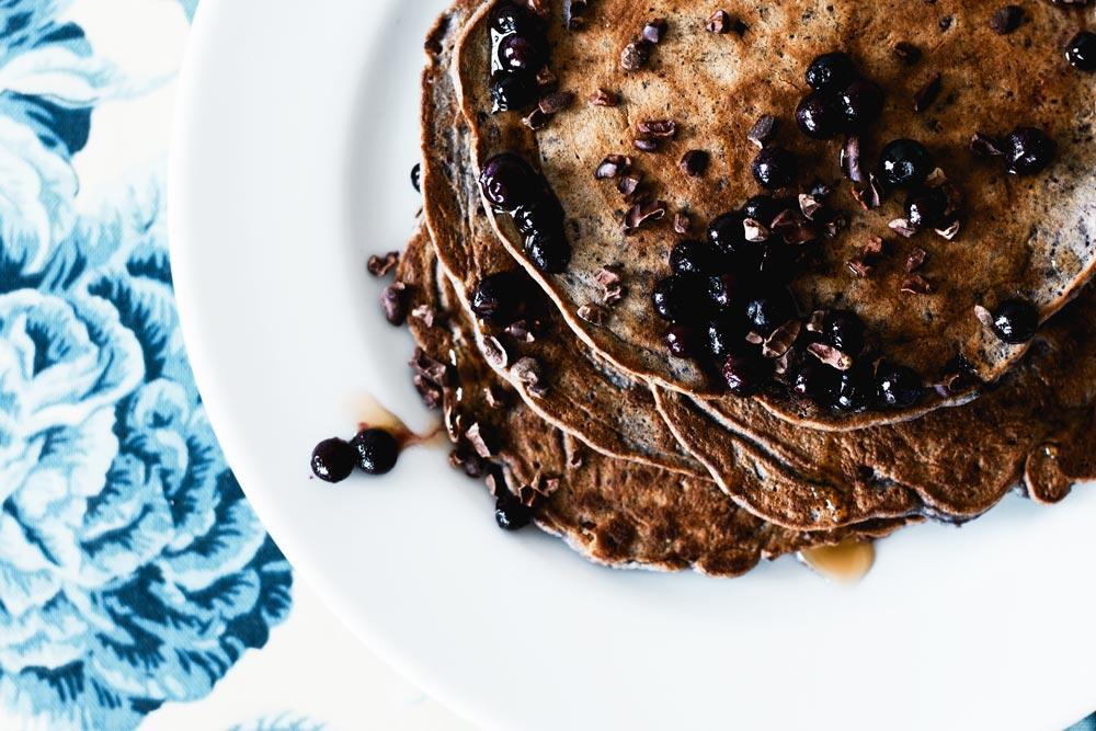 Paleo Blueberry & Cardamom Cassava Flour Pancakes
