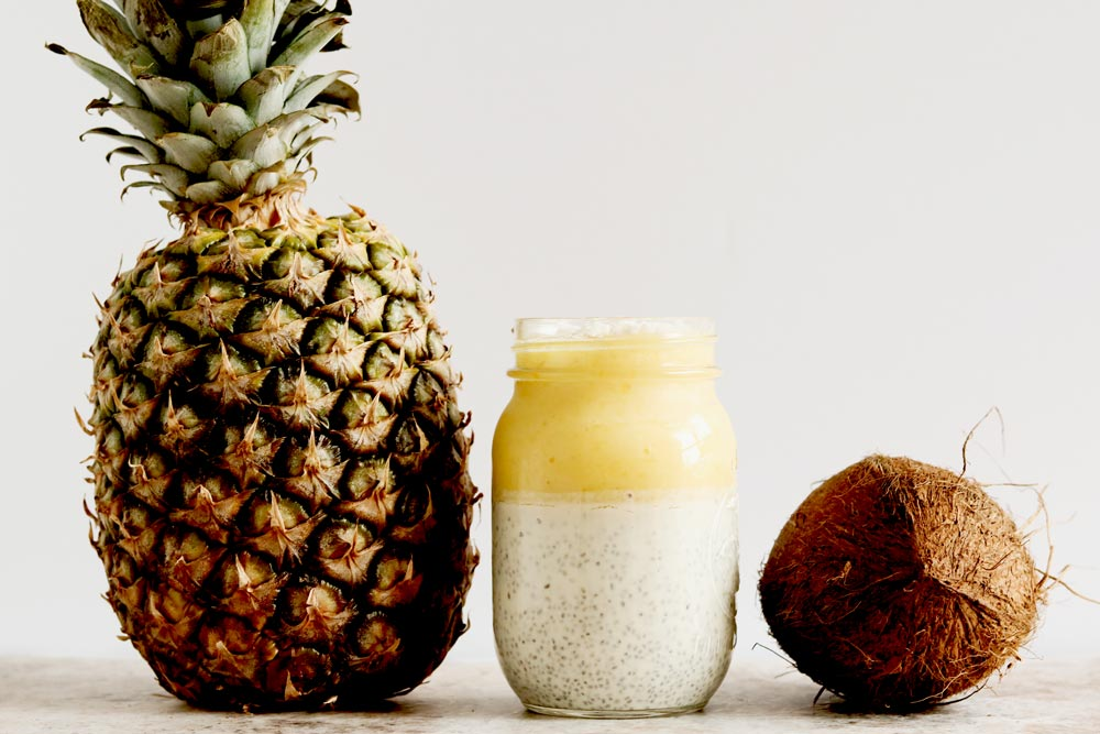 Incredibly Delicious Pina Colada Chia Pudding (No Added Sugars)