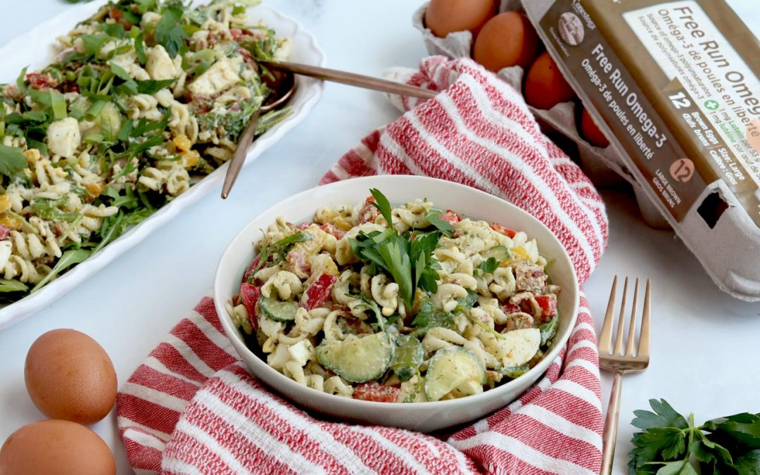 Gluten-Free B.E.L.T. Pasta Salad With Avocado Ranch Dressing