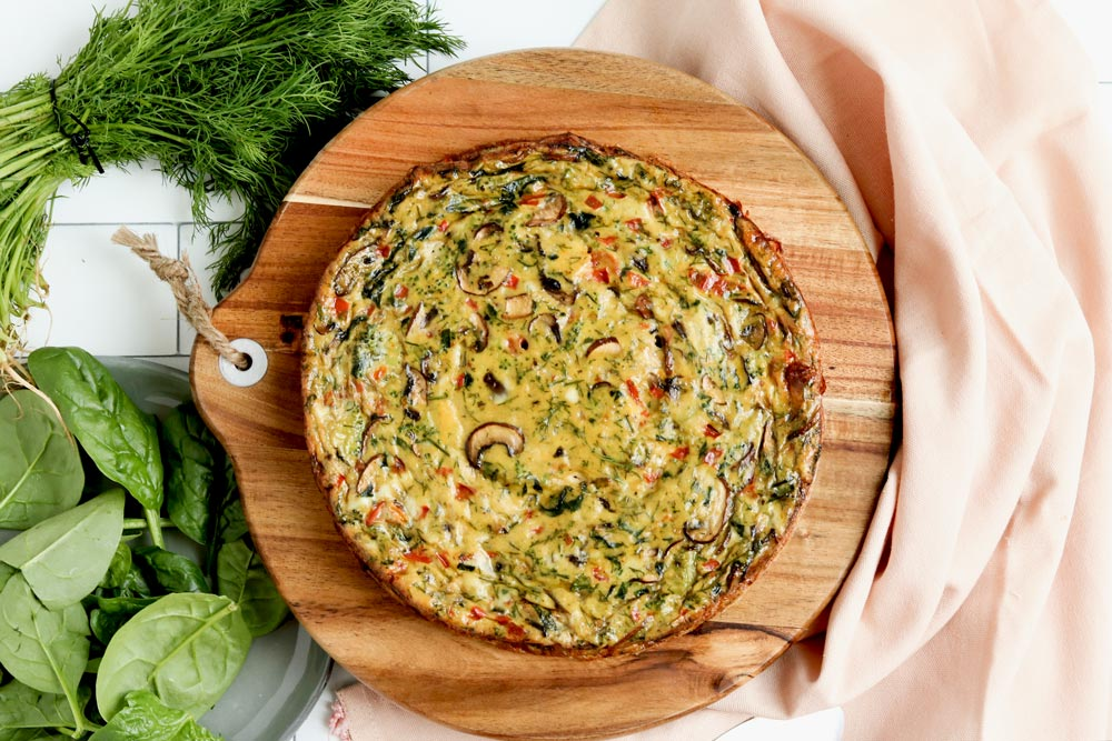 Garden Party Gluten Free Crustless Quiche Naughty Nutrition