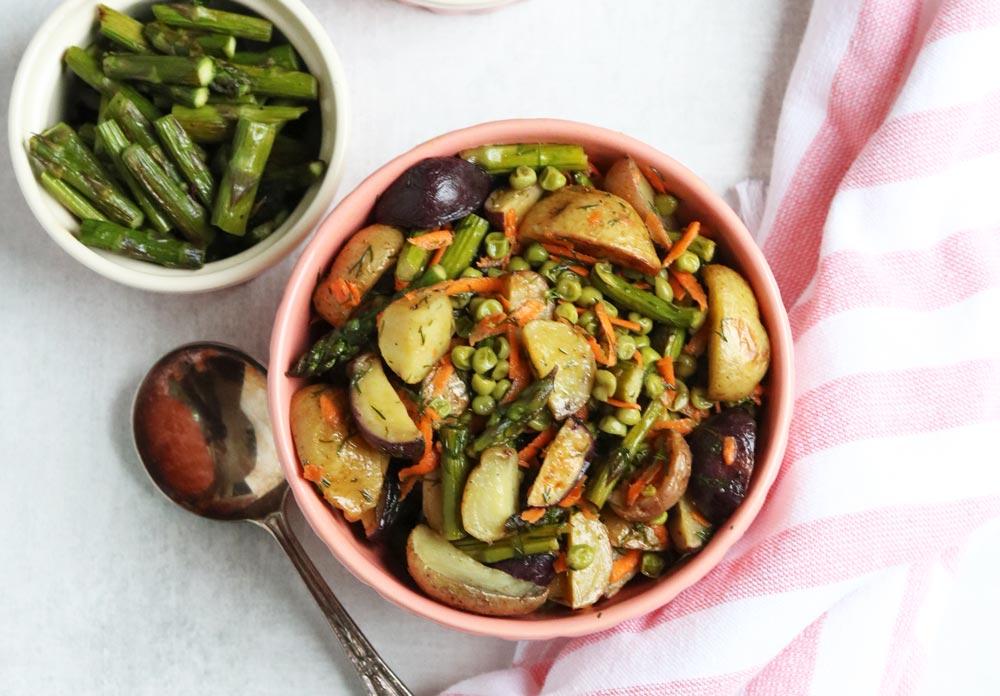 Simple vegan potato salad
