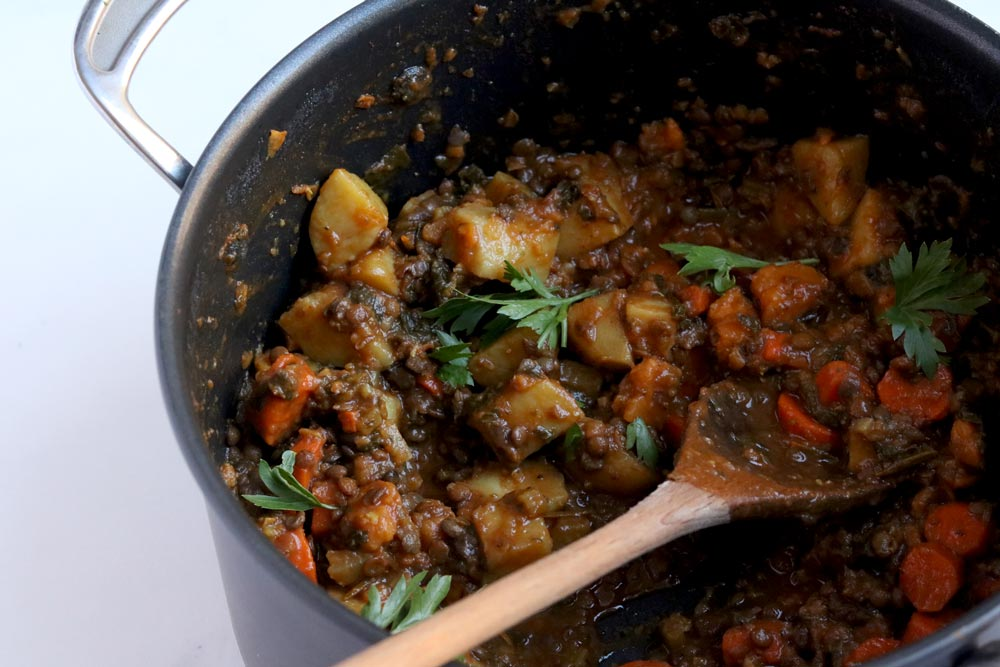 Hearty Beefless Stew With Lentils