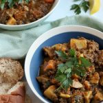 beefless stew made with lentils