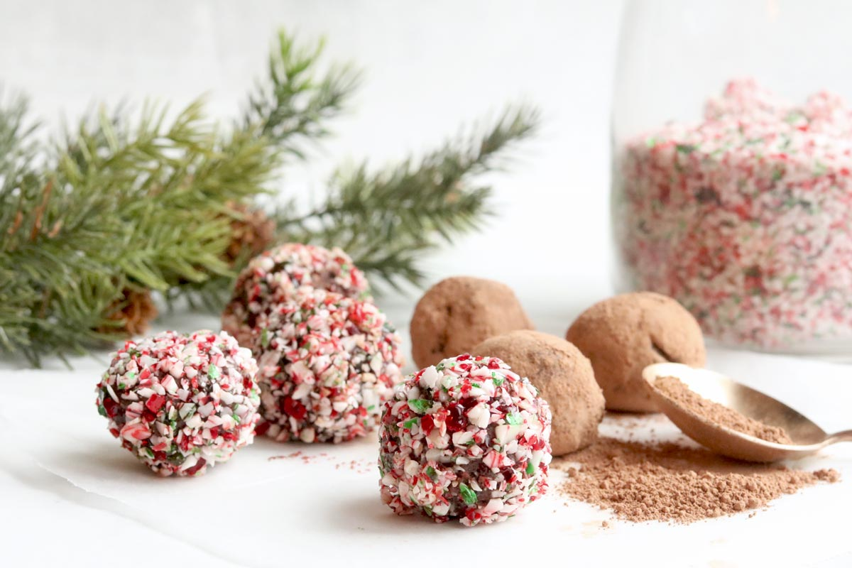 vegan peppermint truffles
