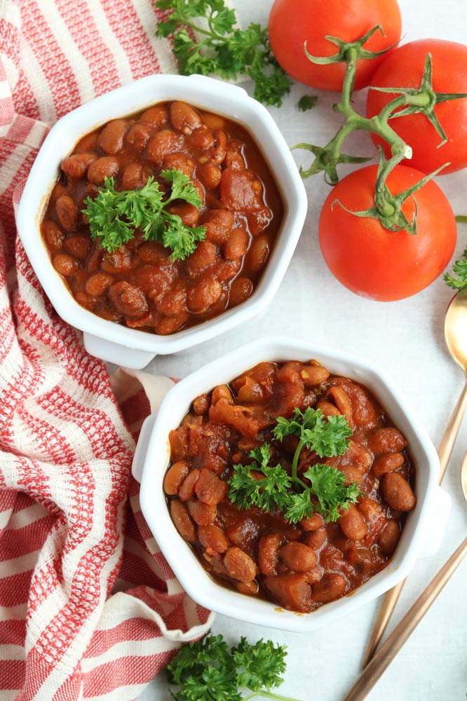Healthy Slow Cooker Heinz Baked Beans Recipe - Naughty ...