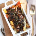 vegetarian poutine with mushroom gravy and root veggies #vegan