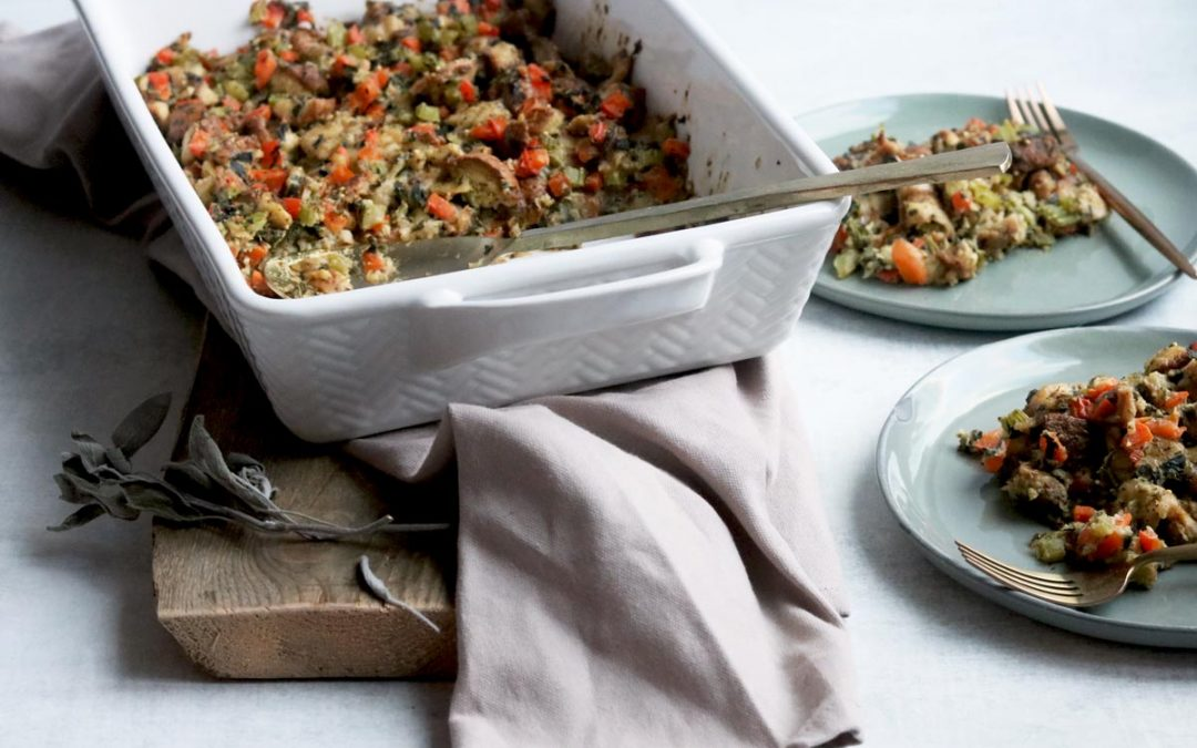 Simple & Flavour Packed Gluten-free Vegetarian Stuffing