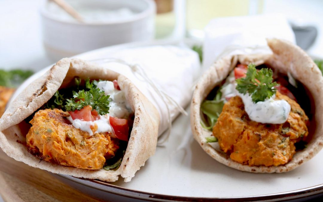 Healthy Baked Sweet Potato Falafel Balls (Grain-Free)