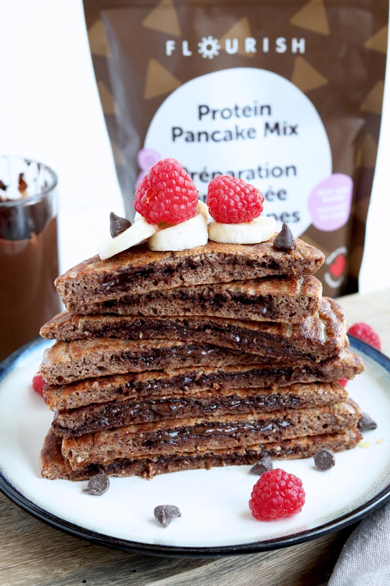 2-Ingredient Double Chocolate Superfood Pancakes (Egg-Free)