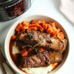 Balsamic Short Ribs with Cauliflower Mash