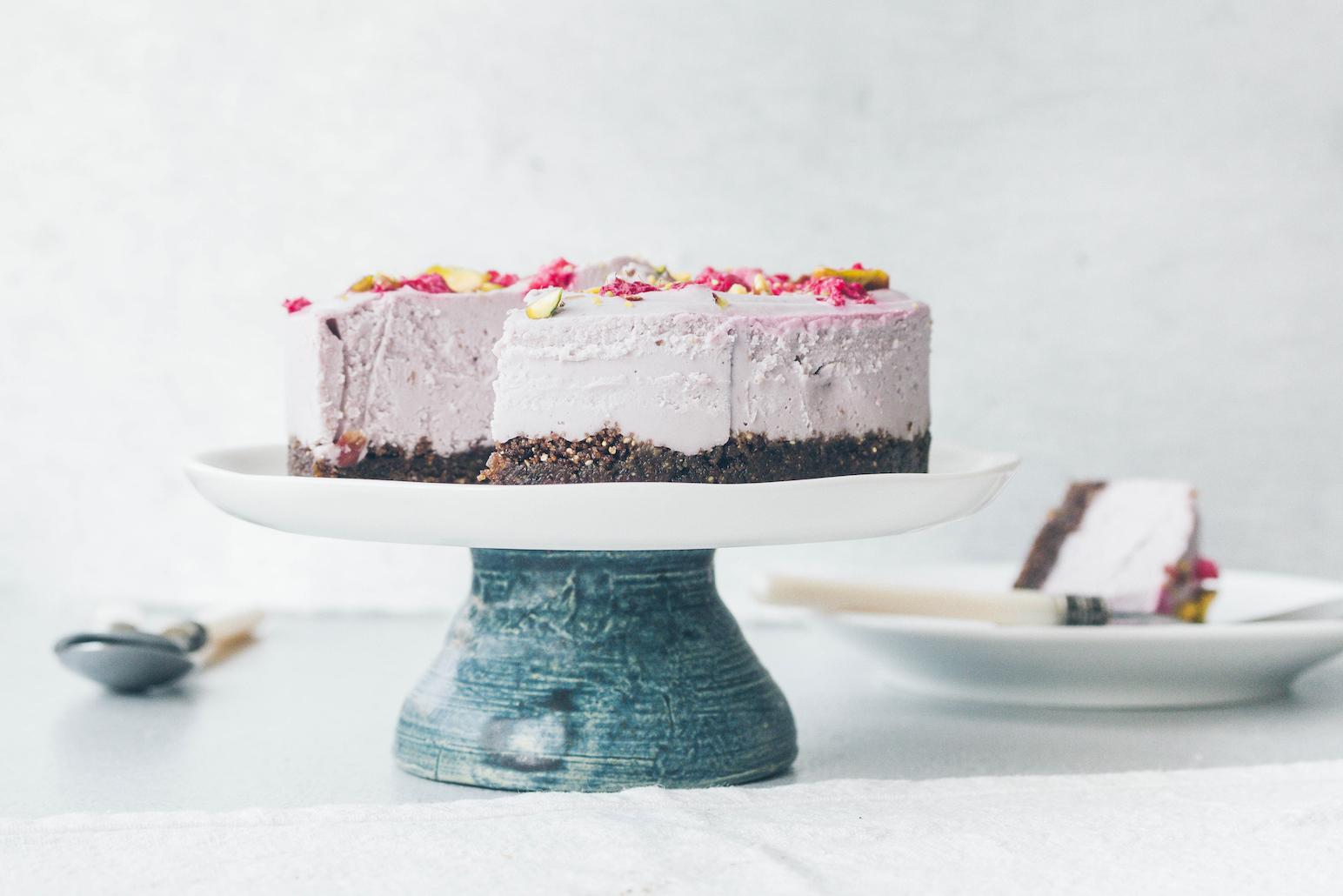 Raspberry Vegan Cheesecake