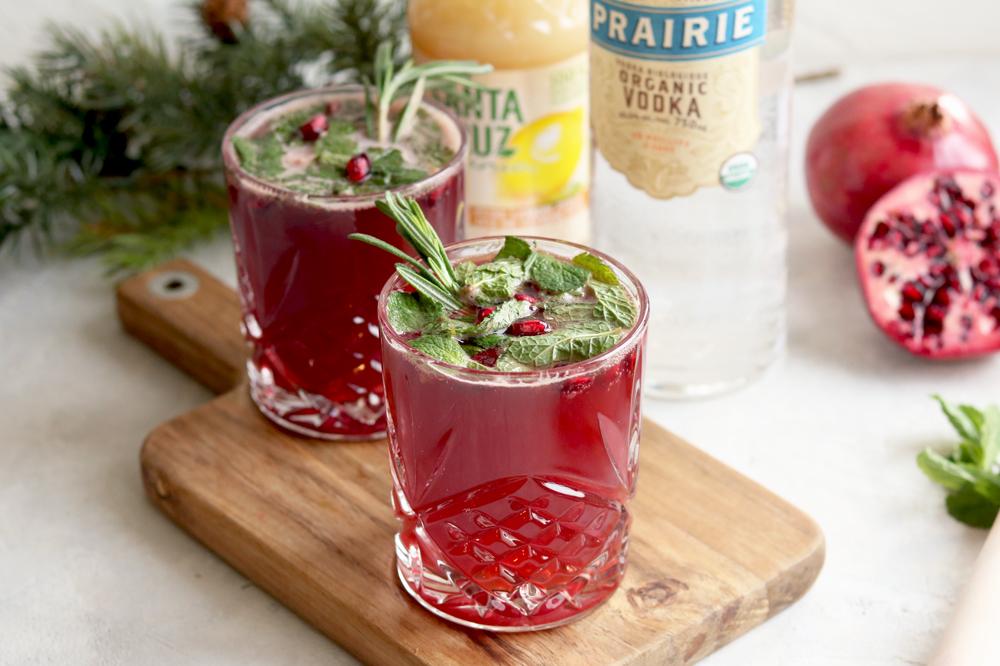 Kombucha & Muddled Mint with Prairie Organic Vodka