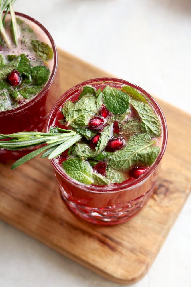 Kombucha and Mulled Mint with Prairie Organic Vodka Cocktail